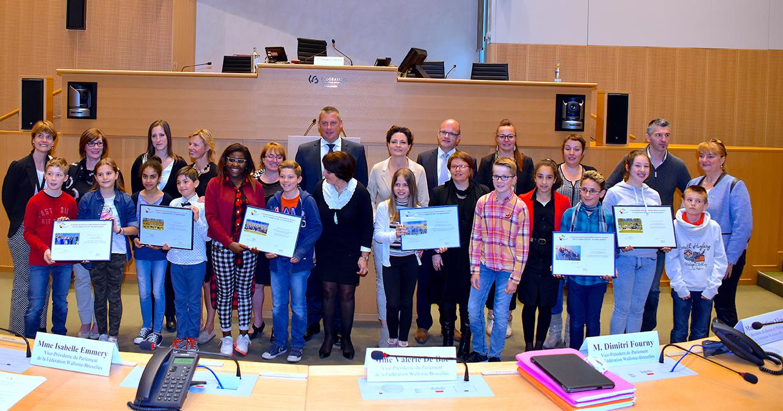 Remise des prix concours Parlement des Enfants, édition 2015-2016